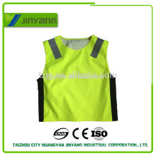 300D oxford waterproof driving school zipper reflective safety vest